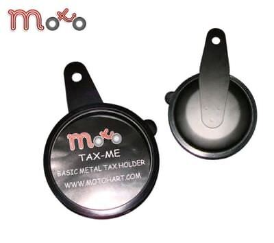 Motorcycle Basic Metal Tax Disk Holder Black Quad Bike Scooter Universal Fit