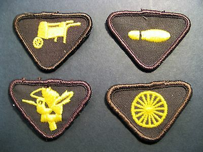 Girl Guides Brownies Canada 4 Vintage Merit Badges Scouts