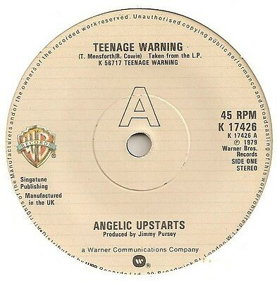 70s/80s Punk Related - 4 X UK 45s - ANGELIC UPSTARTS, REGENTS, THE DAMNED, SLF