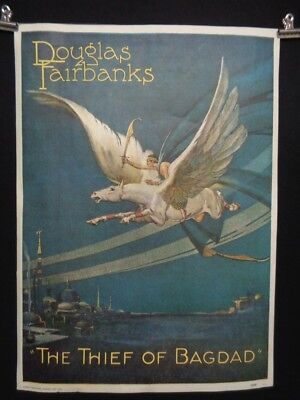 Vintage THIEF OF BAGDAD Film LITHO Poster Douglas Fairbanks Portal Publications