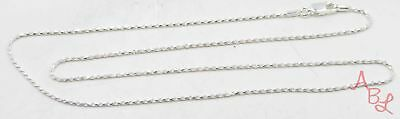 Sterling Silver Vintage 925 Rope Chain Necklace 18'' (2.4g) - 573231
