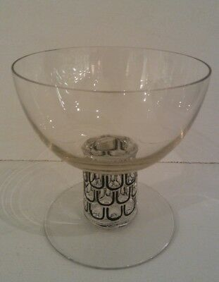 R. Lalique Saint Nabor Champagne Glass with Black Enameling
