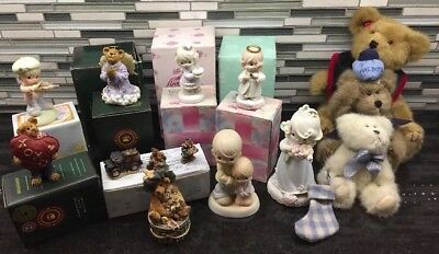 Lot of 12 Boyd Bears Collector 's & Little Moments Angels Collection Figurines