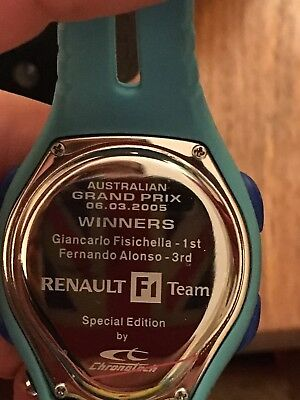 Renault F1 Team Issue Watch. Limited Edition  Fisichella, Alonso Rare