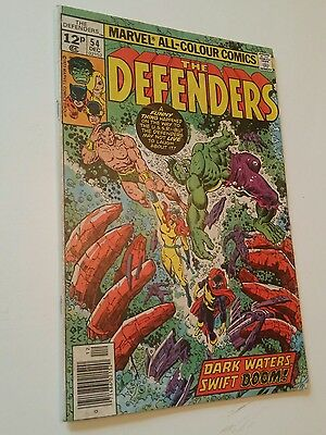 The Defenders_#54_Marvel Comic - Keith Giffen - 1977 outstanding cover art
