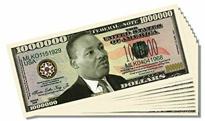 Martin Luther King (MLK) Novelty Million Dollar Bill - Set of 100 with 1 Bonus C