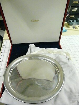 Cartier Pewter tray 11 inch in red box with cloth bag