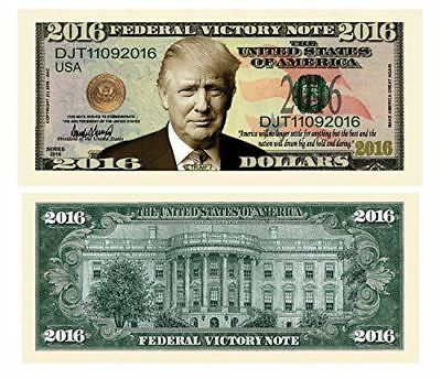 Set of 50 - Donald Trump 2016 Federal Victory Limited Edition Presidential Dolla