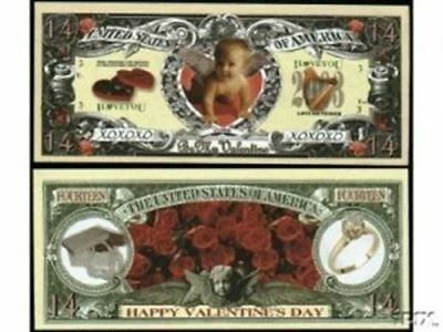 Set of 50 - Valentines Day Collectible Bill