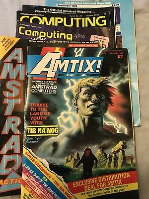 Amstrad Action Amtix Plus Others - 6 Vintaage Amstrad Magazines