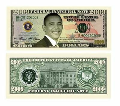 Set of 50 - Barack Obama 2009 Commemorative Dollar Bill
