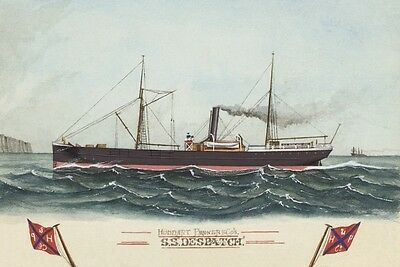 DESPATCH of Huddart-Parker Line, Melbourne Watercolour Postcard Modern