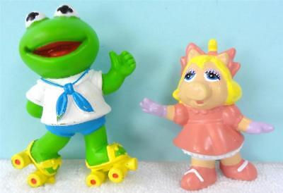 Muppets BABY KERMIT the FROG and MISS PIGGY Figures