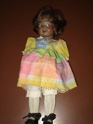 Black Porcelain Doll Marked 165/10 15""
