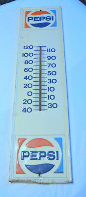 VINTAGE PEPSI THERMOMETER PM-1105 Stout Sign Co St. Louis, MO