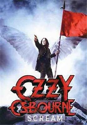 "OZZY OSBOURNE  Rock flag/ Tapestry/ Fabric Poster  ""Scream""  NEW"