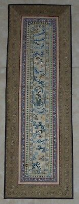 Antique Chinese Embroidered Silk Panel