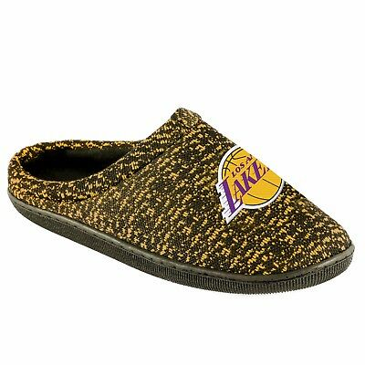 Pair Los Angeles Lakers Poly Knit Cup Sole Slide Slippers Team Color House shoes