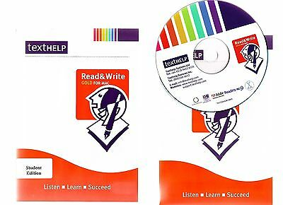 Read & Write Gold Student Edition. Superb Dyslexia Software For The Apple Mac!!