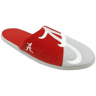 Pair Alabama Crimson Tide Colorblock Slide Slippers Team Color House shoes NEW