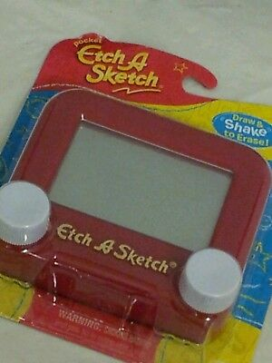 Hot pocket etch a sketch Ohio Art classic learning game pocket edition red New