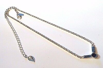 "Vtg Eisenberg Ice Rhinestone Crystal Blue Necklace Wedding Bridal 16"" Choker"