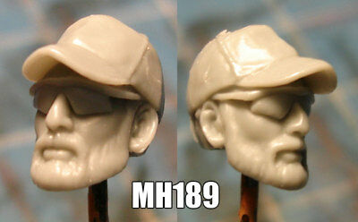 "MH411 Custom Cast Male head use w//3.75/"" Star Wars GI Joe Marvel Universe figure"