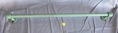 "Antique Jadite Apple Green  Porcelain 24"" Towel Bar  Vtg Cast Iron Old 191-17J"