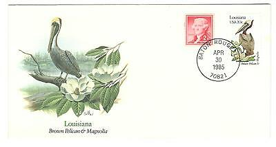 USA cover 1985 Birds of the 50 States Louisiana Bird stamps USA stamps