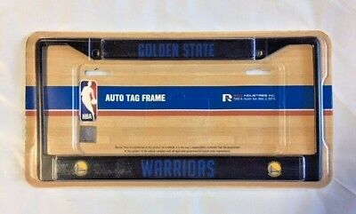 Golden State Warriors Metal License Plate Frame Auto Tag Holder