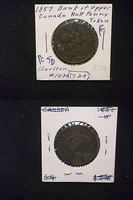 2713 Canada PC-5D 1857 1/2 Penny Token F