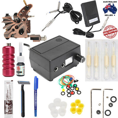 PRO Complete Tattoo Kit W/ High Grade Gun Machine Pedal Supply THE BEST PACKAGE