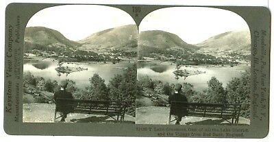 1 of 4 England, 13120-Lake Grasmere, Gem of all Lakes, Village from Red Bank...