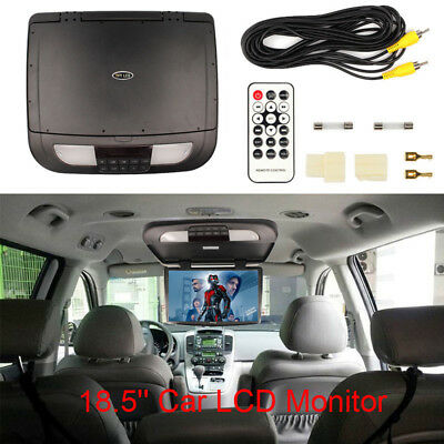 """18.5"""" Car LCD Monitor w/o Player Roof Mounted Video Wide Screen In Car Flip Down"""