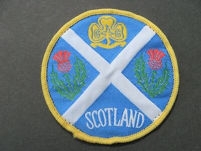 Girl Guides Of Scotland Embroidered Patch Brownies Scouts Britain United Kingdom