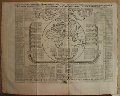 Eastern Hemisphere 1709 Chatelain Antique Engraved Map Of The Ancient World