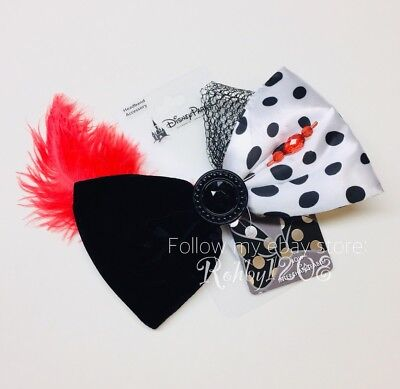 Disney 101 Dalmatians Cruella DeVil Interchangeable Minnie Swap Your Bow Ears