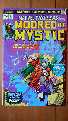 Marvel Chillers #1 MODRED THE MYSTIC '75 MARVEL Bronze Age Low-Mid+/- Grade USA