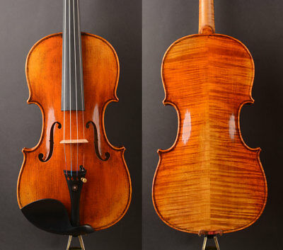Oil varnish! A Stradivari 1715 Copy T20 Violin!,Warm clear tone