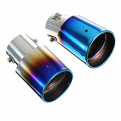 Universal Car Exhaust Muffler Stainless Steel Pipe Modified Rear Tail Throat