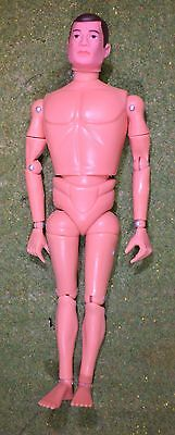 VINTAGE ACTION MAN 40th NUDE NAKED DOLL BROWN PAINTED HAIR HARD HANDS 1/6 SCALE