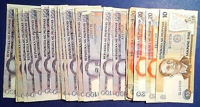 PHILIPPINES: Set of 25 Piso Banknotes Very Fine Condition