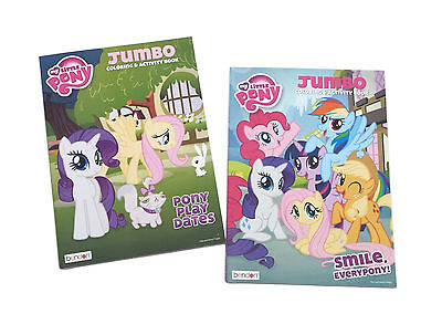 Set of 2 My Little Pony Friendship is Magic Kids Coloring Book Activity Books