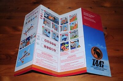TAAG B737-700W Safety Card. Airlines of Angola