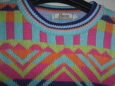 Vtg 80s Paco Casuals Bold & Bright Ugly Jumper - Christmas