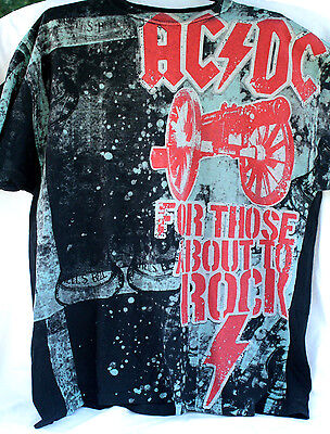 AC/DC FOR THOSE ABOUT TO ROCK Licensed XL T-Shirt 2009 Hells Bells Black
