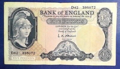 ENGLAND: 1 x £5 Bank of England Banknotes - Extremely Fine
