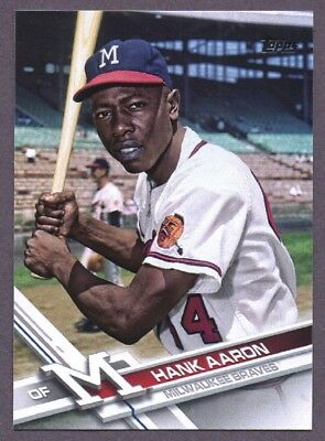 2017 Topps Update # Us247 Hank Aaron Sp Photo Variation Mint