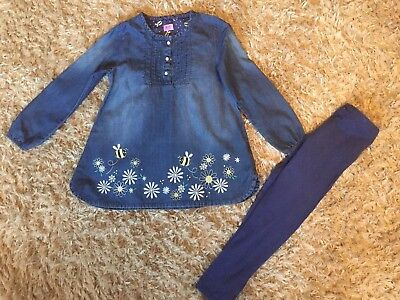 Girls Next Day Post Long Sleeved Tunic And Legging Outfit Set By Tesco 6-7 Years