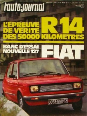 L'Auto-journal n°11-1977-R 14-FIAT 127-PEUGEOT 104 ZS-SIMCA 1000 RALLYE-RENAULT